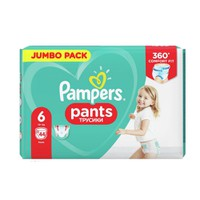 PAMPERS PANTS No6 (15+ KG) JUMBO PACK (44ΤΕΜ)