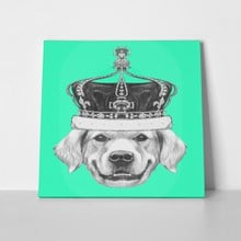 Golden retriever crown hand drawn 329846576 a
