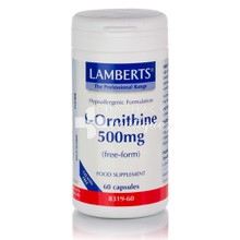 Lamberts L-ORNITHINE 500 mg, 60 caps