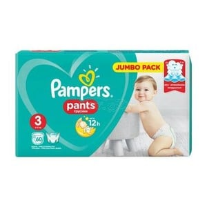 PAMPERS Pants up to 12h Ν3 6-11kg Jumbo pack 60τεμάχια