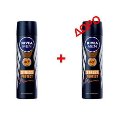 NIVEA MEN - STRESS PROTECT Αποσμητικό spray - 150ml - 1+1 δώρο
