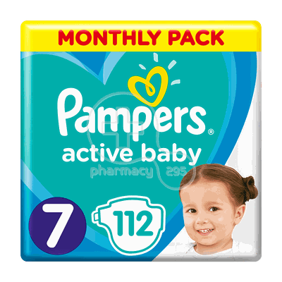 PAMPERS - MONTHLY PACK Active Baby Νο7 (15+kg) - 112 πάνες