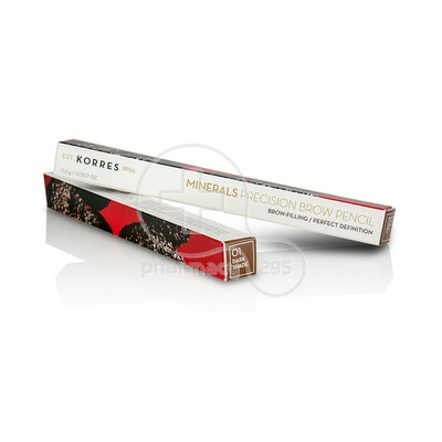 KORRES - MINERALS PRECISION Brow Pencil 01 Dark Shade