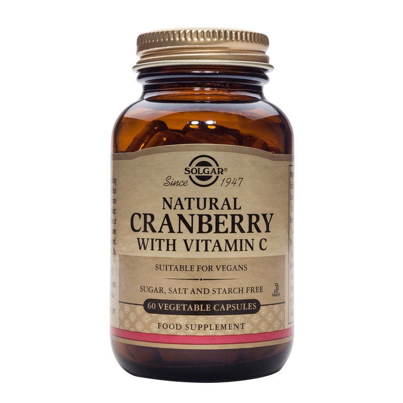 Natural Cranberry with Vitamin C veg.caps