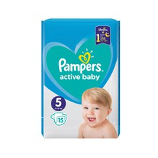 Pampers Active Baby  No5 11-16Kg 15Τμχ .