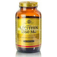 Solgar LECITHIN 1360mg - Αδυνάτισμα, 100 softgels