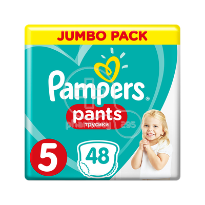 PAMPERS - PROMO PACK JUMBO PACK Pants No5 (12-17kg) - 48 πάνες