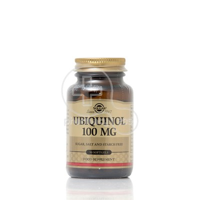 SOLGAR - Ubiquinol 100mg - 50softgels