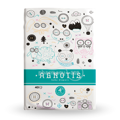 AGNOTIS - Baby Diapers Νο4+ (9-20kg) - 40τεμ.