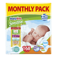 BABYLINO - MONTHLY PACK Babylino Sensitive Newborn No1 (2-5 Kg) - 168 πάνες