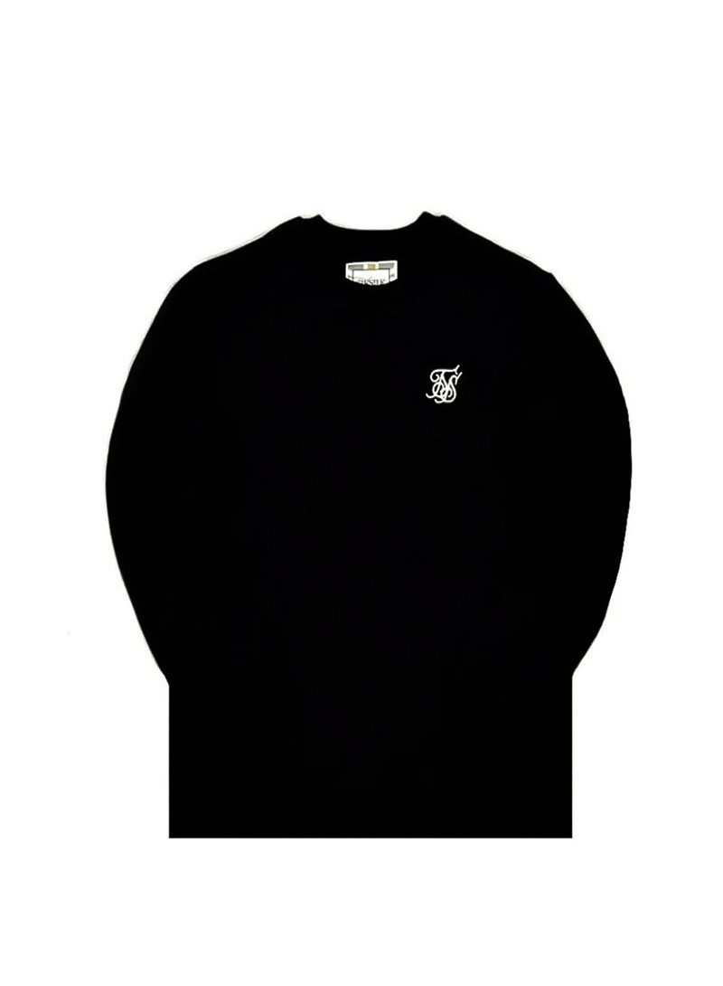 SikSilk Crew Sweat - Black