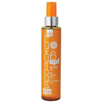 LUXURIOUS SUNCARE TANNING OIL SPF6 200ML