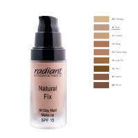 RADIANT NATURAL FIX ALL DAY MATT MAKE UP SPF15 30ML No1-ROSY