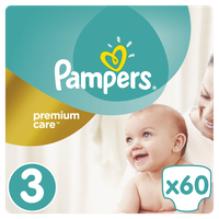 PAMPERS PREMIUM CARE JUMBO 3 (6-10KG) 60 TEMAXIA