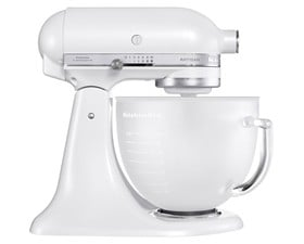 Kitchenaid Μίξερ Frosted Pearl Με Γυάλινο Μπωλ 4,8λτ. Artisan