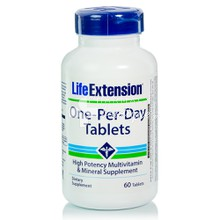 Life Extension ONE PER DAY - Πολυβιταμίνη, 60tabs