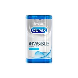 Durex Invisible Extra Thin - 6 Προφυλακτικά