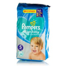 Pampers No.5 (11-16kg) - Active Baby Maxi Pack, 51τμχ
