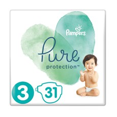 Pampers Pure Protection No 3 (6-10kg) 31Τμχ.