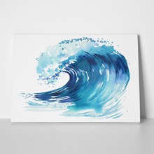 Sea wave abstract watercolor hand drawn 689010730 a