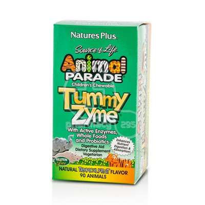 NATURE'S PLUS - SOURCE OF LIFE ANIMAL PARADE Tummy Zyme - 90chew.tabs