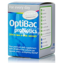 Optibac Probiotics Extra Strength - Προβιοτικά, 30caps