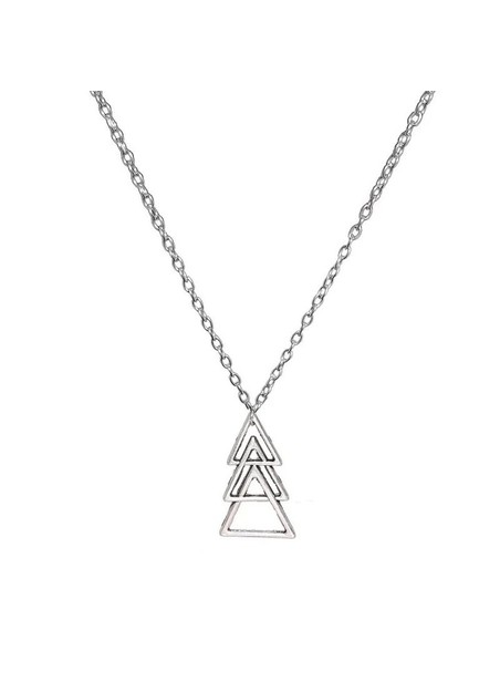 MILLIONALS TRIANGLES STAINLESS STEEL CHAIN NECKLACE
