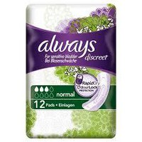 ALWAYS DISCREET LADY PADS NORMAL 12