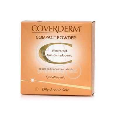 COVERDERM - COMPACT POWDER Oily/Acneic Skin No1 - 10gr