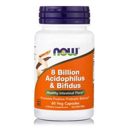 Now Foods Acidophilus & Bifidus 8 Billion 60 Veg Caps