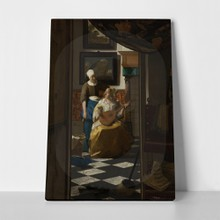 Johannes vermeer the love letter2