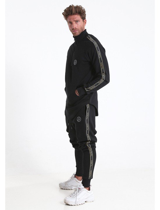Vinyl tracksuit with taping