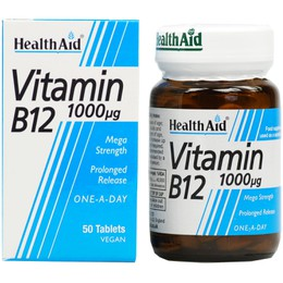 Health Aid Vitamin B12, 1000mg 50Tabs
