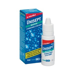 Unisept buccal drops mouth gums gr