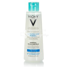 Vichy Purete Thermale Lait Micellaire Minerale Dry Skin - Γαλάκτωμα καθαρισμού & Ντεμακιγιάζ για Ξηρή επιδερμίδα, 200ml