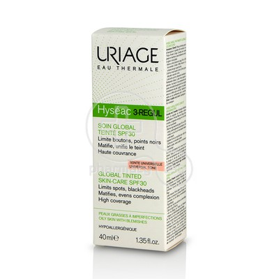 URIAGE - HYSEAC 3-Regul Soin Global Teinte SPF30 (Teinte Universelle) - 40ml