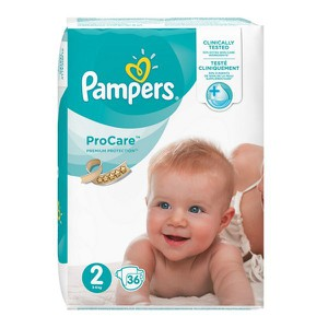 PAMPERS ProCare premium protection N2 πάνα για μωρά από 3-6 κιλά 36τεμάχια