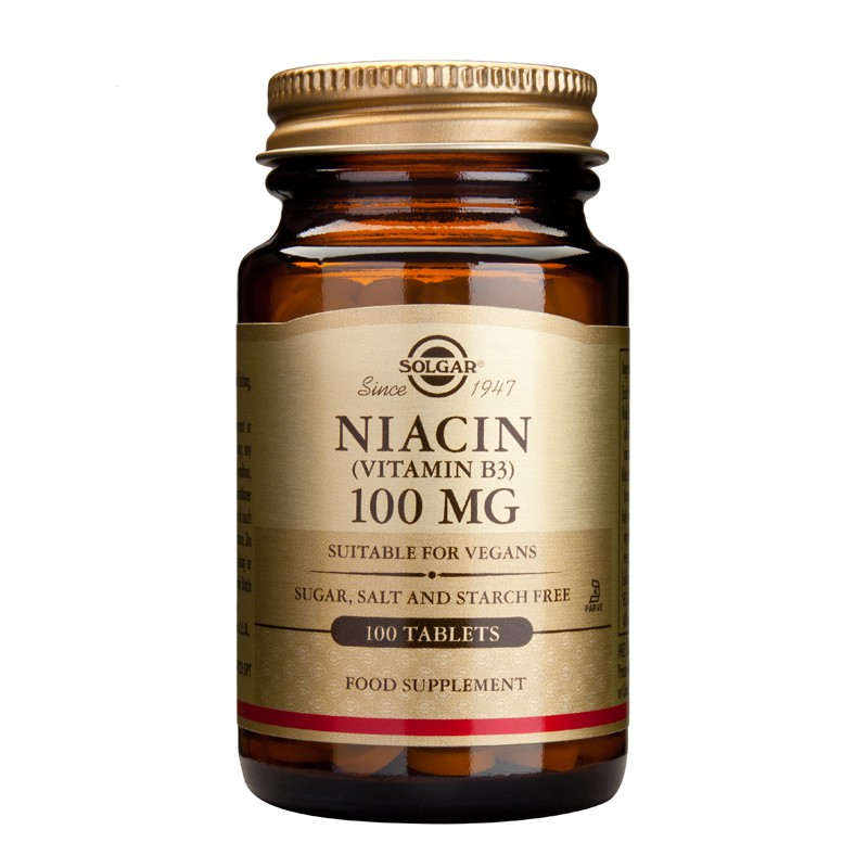Niacin (B3) 100mg tablets