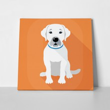 Dog labrador retriever sitting icon 227025904 a