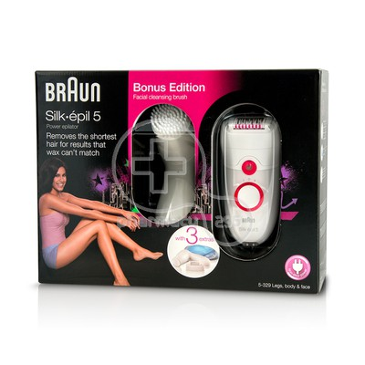 BRAUN - SILK-EPIL 5 Power Epilator & Facial Brush Αποτριχωτική Μηχανή SES5/329