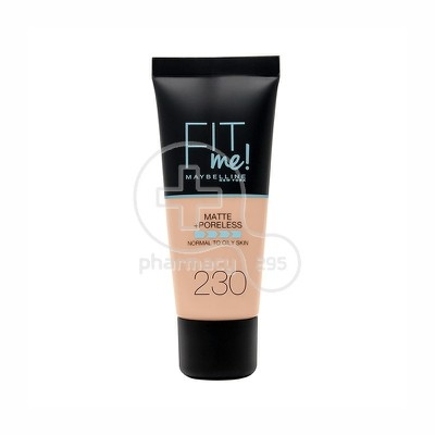 MAYBELLINE - FIT ME Matte & Poreless Foundation No230 (Natural Buff) - 30ml