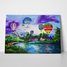 Fire balloon oil painting 113055865 a