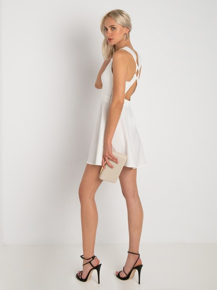 Dress with cross back details