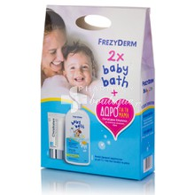 Frezyderm Σετ 2 x Baby Bath 300ml & Δώρο Christialen Emulsion 50ml