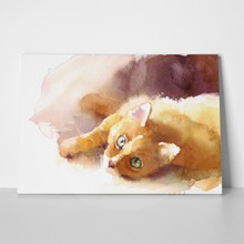 Watercolor ginger tabby cat 444988234 a