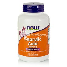 Now CAPRYLIC ACID 600mg - Καντιντιάση, 100softgels