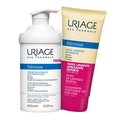 Uriage - Xemose Creme Relipidante Anti-Irritations 400ml & ΔΩΡΟ Huile Lavante Apaisante 200ml