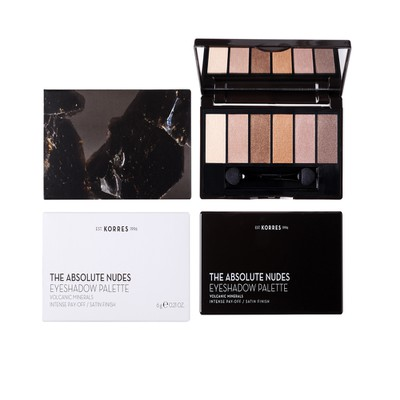 Korres - Παλέτα Σκιών - Volcanic Minerals Eyeshadow Palette The Absolute Nudes - 6gr
