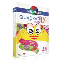 MASTER AID QUADRA 3D STRIPS GIRLS (2 ΜΕΓΕΘΗ) 20ΤΕΜ