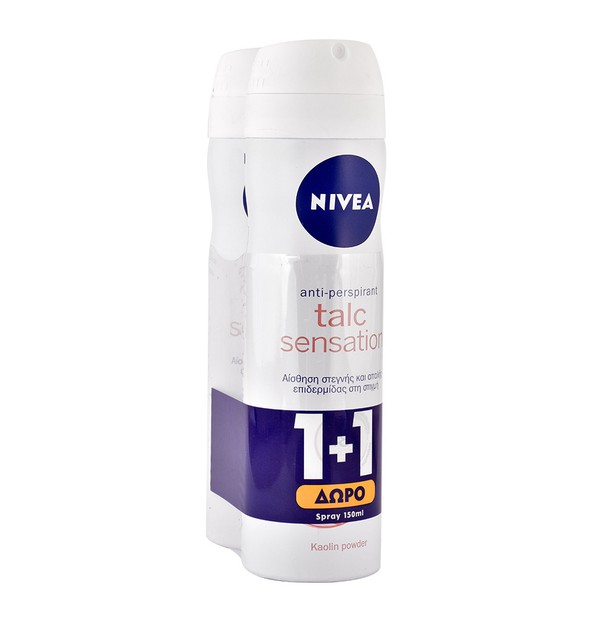 NIVEA DEO TALC SENSATION SPRAY ΓΥΝΑΙΚΕΙΟ 150ML PR(1+1)